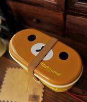 Rilakkuma San-X Cute Lunch Box Bento with Free Chopsticks High Heat Resistance