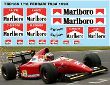 1/18 FERRARI F93A F1 1993 SPONSOR DECALS TB DECAL TBD186