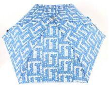 Knirps Flat Duomatic Scrabble Regenschirm Taschenschirm Blau Mehrfarbig Neu