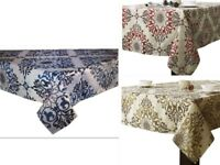 Assorted Sizes Polyester Jacquard Fabric Tablecloths Striped Multi-Color thick