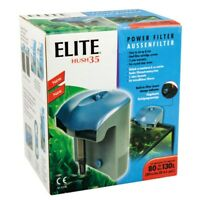 Power Filter Elite Hush 35 For Aquariums 20 to 35 Gls ( 75 to 132L )