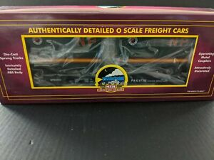MTH TRAINS NORTHERN PACIFIC FLAT CAR WITH 20' TRAILERS ITEM #20-98105 MIB