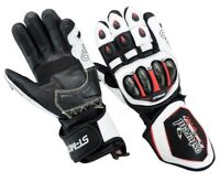 New TracTech EVO Motorcycle GLOVES Leather Biker Motorbike SPS Knuckle Armour CE