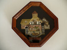 David Winter Pershore Mill 1990 Figurine in Wood Frame with Glass