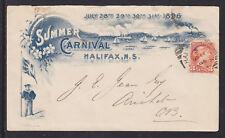 Canada Sc 37 on 1896 Halifax Summer Carnival Cover to Nova Scotia