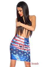 Sexy GONNA BANDIERA AMERICANA taglia unica (38/40/42) minigonna fashion GLAMOUR