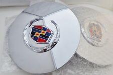 """4 Cadillac ESCALADE 17"""" CHROME Wreath & Crest CENTER CAPS!!"""