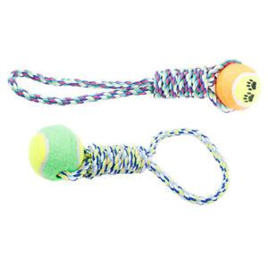 2x Dog Rope Toys for Strong Dog Sturdy Tug Rope Cotton Washable Puppy Chew Rope