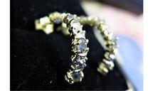 9KT GOLD ROUND TANZANITE & DIAMOND STUD EARRINGS