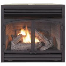 Duluth Forge Dual Fuel Ventless  Gas Fireplace Insert 32,000 BTU, Remote Control