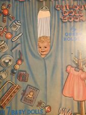 Baby Shower Cut-Out Doll Book by Queen Holden 1985
