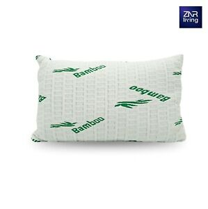 ZNR Luxury Soft Bamboo Memory Foam Pillow, Anti-Bacterial Premium Support Pillow