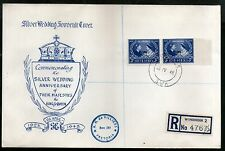 South West Africa 1948 Silver Wedding Anni. of KGVI & QE Sc 159 FDC # 9634