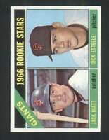 1966 Topps #373 Jack Hiatt/Dick Estelle NM/NM+ RC Rookie Giants Giants Rookies 1