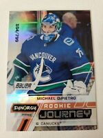 MICHAEL DiPIETRO 2020-21 UD SYNERGY ROOKIE JOURNEY HOME #RJ-MD CANUCKS #104/799