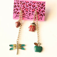 New Betsey Johnson Charms Drop Dangle Earrings Gift Fashion Women Party Jewelry