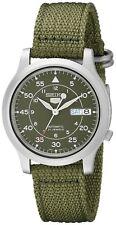SEIKO Mechanical Automatic Nylon Strap Men's Watch Military Khaki Green SNK805K2