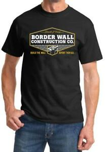 Trump BORDER WALL CONSTRUCTION COMPANY Tshirt NEW FREE SHIPPING