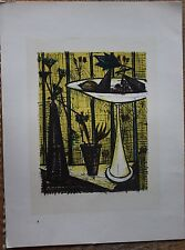 Bernard BUFFET - Lithographie la coupe de fruits Mourlot 1967