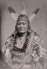 "Dakota Sioux Indian, Native American,Bone Necklace, antique decor, 16""x11"" Photo"