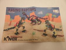 K'Nex Knex Raging Raptors 13104 23104 Instructions