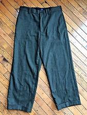 Mens 33 x 34 GAP Hunter Green recycled WOOL flat front Pants Slacks bx29