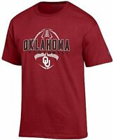 Oklahoma Sooners Crimson Football Short Sleeve T Shirt by Champion