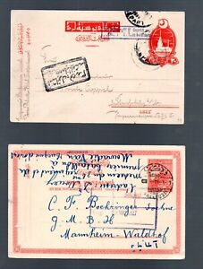 Ottoman Empire 1917/27 old selection postcards (2x) nice used to Germany