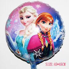 """HUGE 2-Sided Frozen Elsa Anna Mylar Jumbo Balloon Birthday Party Supplies 18"""" CN"""