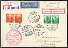 LIECHTENSTEIN 1933 119 per 2 SCHÖNE WERTVOLLE FLUGPOSTKARTE (E7464b