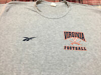VINTAGE REEBOK UVA Virginia Cavaliers Football Shirt VTG 90s TEAM ISSUE! 🚨RARE