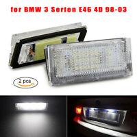 LED Plaque Immatriculation Ampoule E46 pour BMW E46 4D 98-03 Set 210 Lm 1Pair