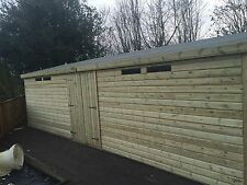 30x10' Wooden Garden Shed Summerhouse Ultimate 19mm Tanalised Security Workshop