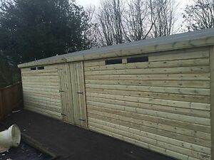 WOODEN GARDEN SHED SUMMERHOUSE ULTIMATE 19MM TANALISED SECURITY WORKSHOP 30x10ft