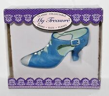 "My Treasure Classic Blue Strap Boot Resin Pump High Heel 4"" L Mniature Shoe"