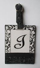 g J INITIAL LUGGAGE TAG bag ID suitcase vegan letter NWT travel accessory ganz