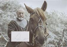 LIAM CUNNINGHAM Signed 12x8 Photo Display DAVOS SEAWORTH In GAME OF THRONES COA