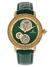 Empress Tatiana Automatic Semi Skeleton Dial Green Leather Women's Watch EM2904