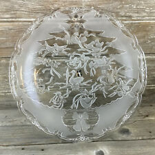 Mikasa Serving Platter 12 Days of Christmas Holiday Embossed Glass 15.5""