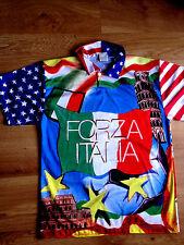 +  MAGLIETTA FORZA ITALIA CALCIO FOOTBALL T SHIRT Shirts NO ORIGINAL AMERICA