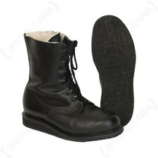Original German Winter Pilots Boots - Black Leather Cold Weather Fleece Lined