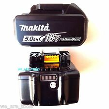 2 NEW Genuine Makita LED GAUGE BL1850B-2 18V GENUINE Batteries 5.0 AH 18 Volt