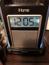 iHome Alarm Clock Speaker System with Audio Jack and iPod/iPhone Dock with cord