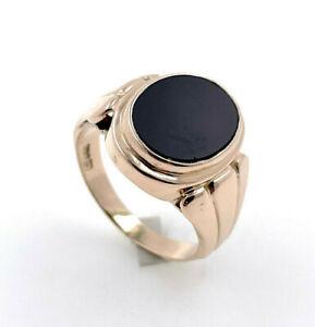 Seal Ring Men's Ring 333 Gold - Size 70 - 9,80 Gram