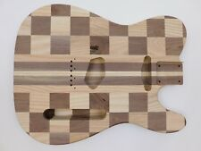 Ash and Black Walnut T-Style Guitar Body