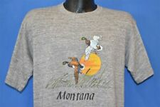 vintage 80s MONTANA DUCKS SUNSET TOURIST RAYON TRI BLEND t-shirt LARGE L