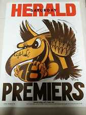 1978 Hawthorn FC - VFL Premiership Weg Poster signed Vice-Captain Leigh Matthews