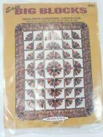 Mccalls Easy Big Blocks Miladys Fan Tissue Paper Foundations patterns Quilt B502