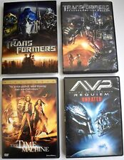4 Action Dvds Transformers (Orig. & Revenge) Avp Requiem Time Machine Free S&H