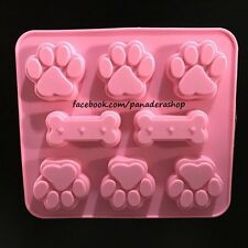 Paw Bone Pet Dog  Silicon Soap Chocolate Fondant Clay Jelly Mold Molder